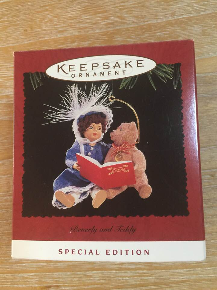 Christmas Ornament -  1995 Hallmark Keepsake Ornament Beverly & Teddy