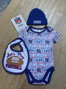 New York Giants 3-piece Baby Creeper Set