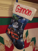 "BLAZE Monster Truck 18"" Jersey Christmas Stocking Plush Cuff - Personalized T8"
