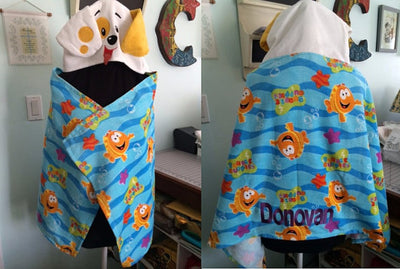 Bubble Guppies Toddler Super Soft Hooded Towel Wrap - Personalized