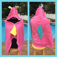 Butterfly Hooded Towel Bath Wrap - Personalized