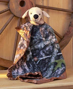 True Timber Camo Lab Dog Snuggle Lovey Blanket Crib toy - Personalized
