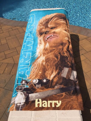 Star Wars Chewbacca Beach Towel - Personalized Beach Towel