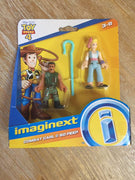 Imaginext Disney Pixar Toy Story Bo Peep & Combat Carl Figures