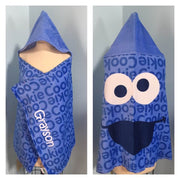 "Sesame Street Cookie Monster ""Always Hungry"" Hooded Towel Wrap – Personalized"