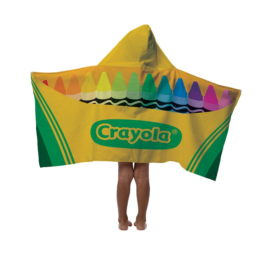Crayola Classic Crayon Hooded Towel Wrap - Personalized
