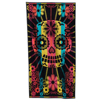 Celebrate Summer Together Sugar Skull Beach Towel - Personalized - Over sized