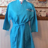 Waffle Kimono 12 Colors - Wedding Bride Pool Spa Robe - Personalized