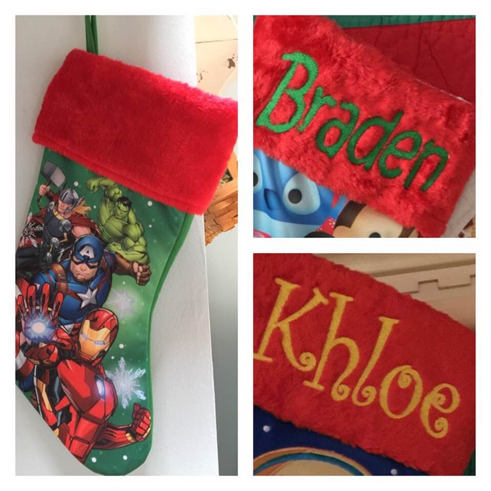 Avengers Christmas Stocking Plush Cuff 18 inch - Personalized T19