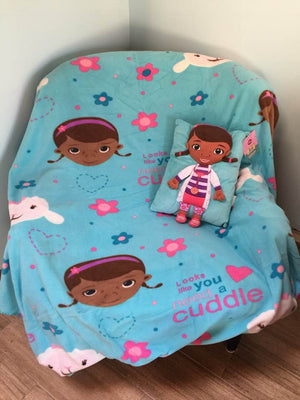 Disney Doc McStuffins Snuggle Blanket and Pillow Set - Personalized