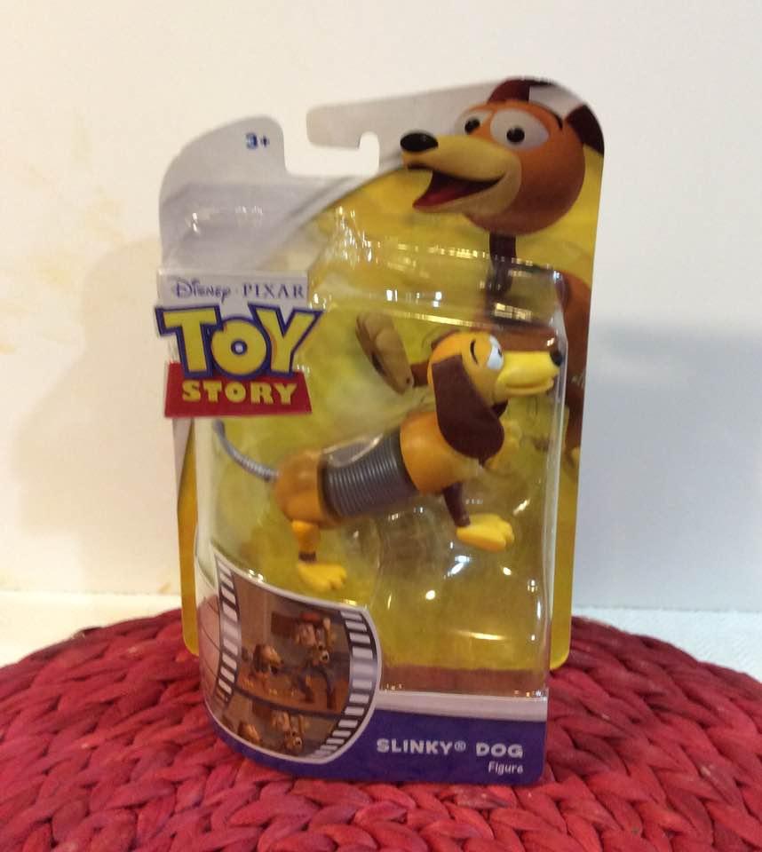 DISNEY PIXAR TOY STORY SLINKY DOG FIGURE POSABLE IN BOX