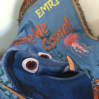 Disney Finding Dory Finding Nemo Tapestry style throw blanket - Personalized
