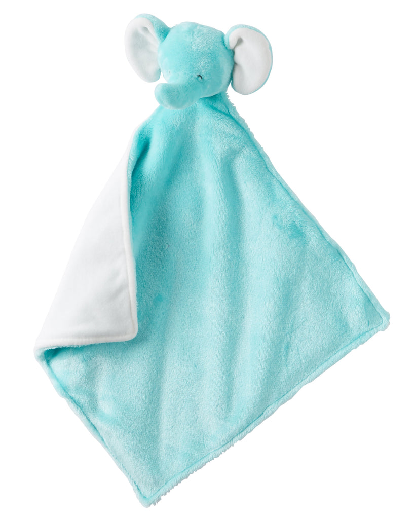 08109b98c8 Baby Elephant Soft Teal Security Blanket Lovey - Personalized | Just4kidos