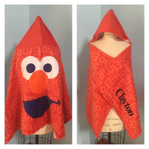 Sesame Street Sesame Elmo Hooded Towel Wrap – Personalized