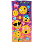 Smiley EMOJI emojicon Beach Towel - Personalized