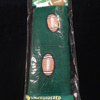 Football Terrycloth Wristband Set of 2