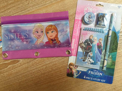 Frozen Elsa and Anna 3 Ring Pencil Case Pouch - Monogrammed