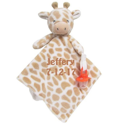 Carter's Giraffe Plush Security Blanket Lovey with Pacifier Clip - Personalized