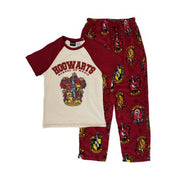 Harry Potter Mens Hogwarts School Of Magic T-Shirt & Pajama Bottoms Sleep Set Men's Size Small