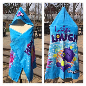 "Hatchimals ""Laugh & Love"" Hooded Towel Wrap - Personalized"