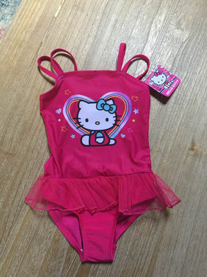 Hello Kitty Swimsuit One Piece Deep Pink Tutu style Size 4