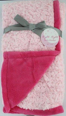Night Night Baby Pink Hot Pink Blanket - Personalized