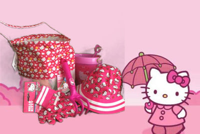 Hello Kitty Garden Set Reusable Beach Pail and Bucket hat Personalized