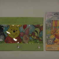 Winnie the Pooh 3 Ring Pencil Case Pouch Set - Monogrammed