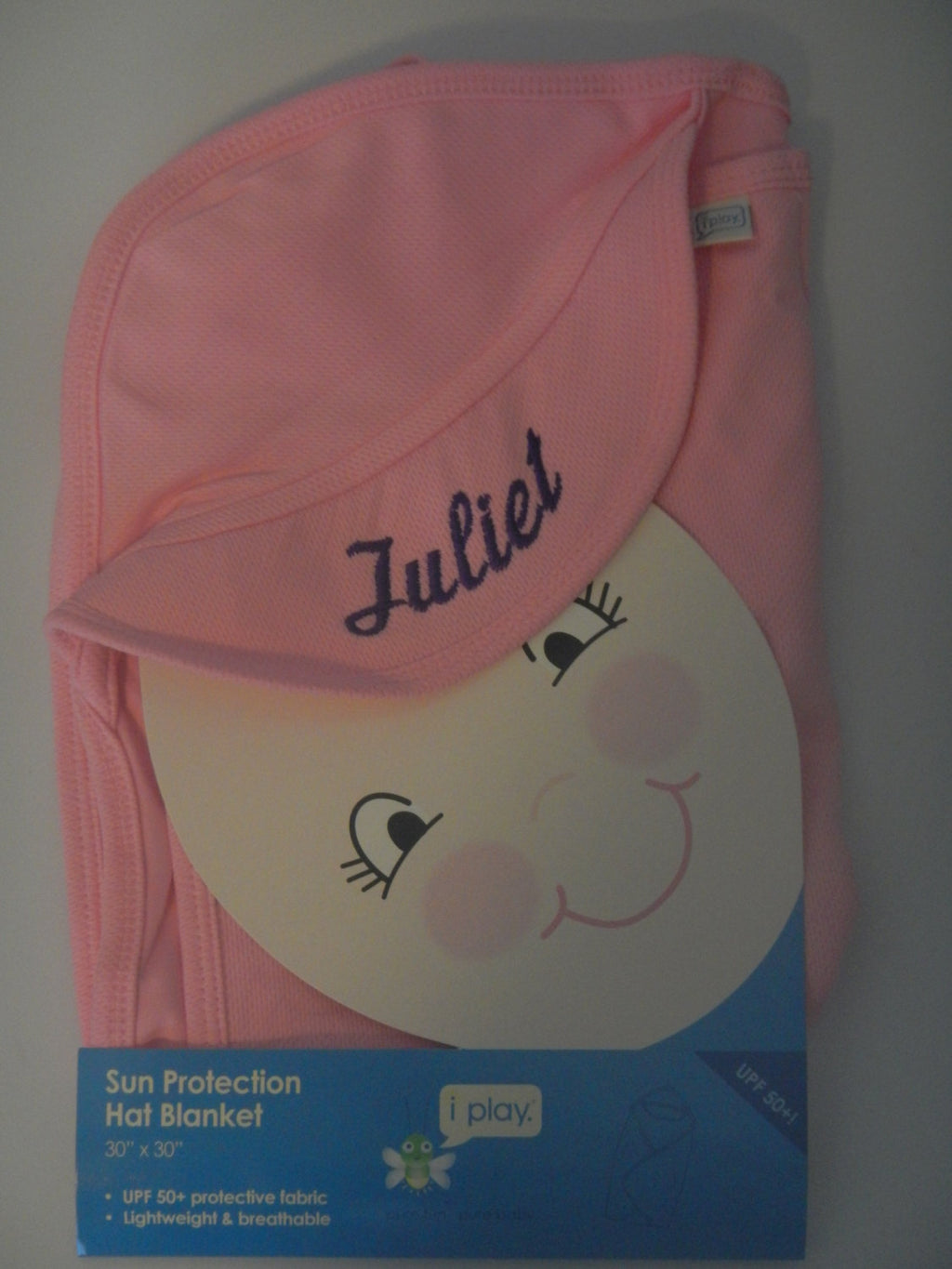 UV Sun Protection Baby Hat Hooded Blanket Wrap UPF 50 - Personalized