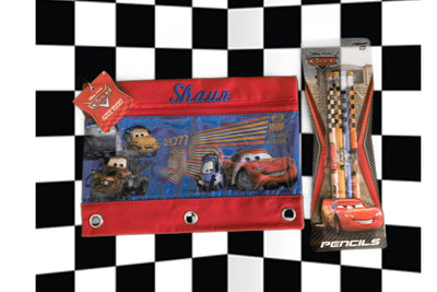 Disney PIXAR CARS 3 Ring Pencil Case Pouch - Monogrammed
