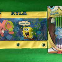Spongebob 3 Ring Pencil Case Pouch - Monogrammed
