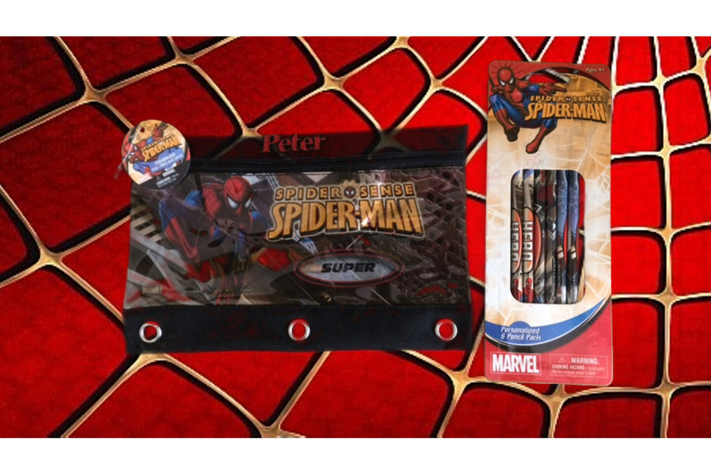 Spider-Man 3 Ring Pencil Case Pouch - Monogrammed