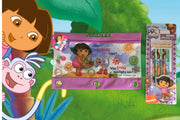 Personalized Dora the Explorer 3 Ring Pencil Case Pouch - Monogrammed