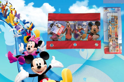 Mickey Mouse Clubhouse 3 Ring Pencil Case Pouch - Monogrammed