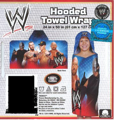 WWE Wrestling John Cena Hooded Beach Towel Wrap –  Personalized