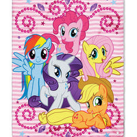 MLP My Little Pony Personalized Kids Micro Fleece Throw  Blanket - Personalized