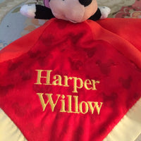 Disney Minnie Mouse Snuggle Blankey Security Baby Blanket lovey - Personalized