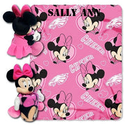 Disney Minnie Mouse NFL Philadelphia EAGLES Cheerleader Fleece Throw Blanket & Hugger - Personalized