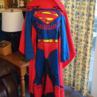 SUPERMAN  Youth Comfy Blanket Throw with Sleeves Personalized