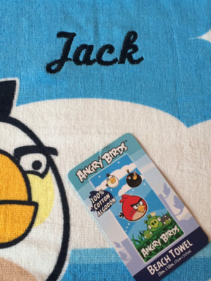 ANGRY BIRDS Beach Towel Personalized