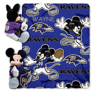 Disney Mickey Mouse NFL Baltimore Ravens Fleece Blanket & Hugger - Personalized
