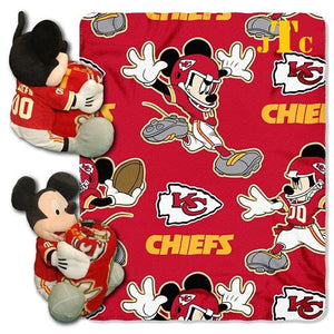 Disney Mickey Mouse NFL Kansas City CHIEFS Fleece Blanket Hugger - Personalized