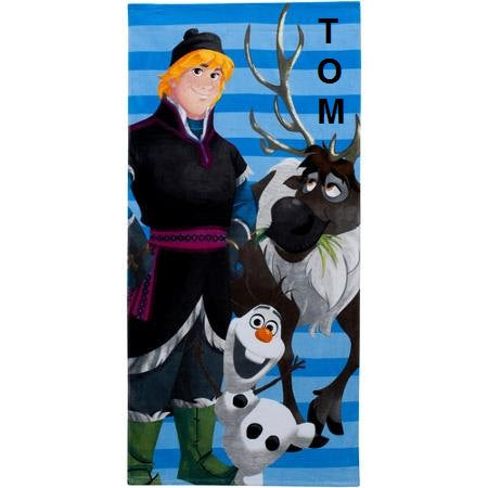 Disney Frozen Olaf and Kristoff Beach Towel Personalized