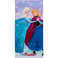 Disney Frozen Ice Skating Anna Elsa Beach Towel  - Personalized
