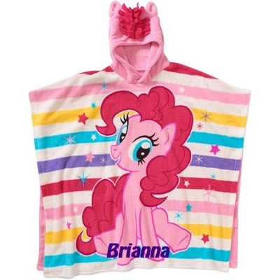 My Little Pony MLP Super Soft Plush Fleece Hooded Poncho Blanket, Personalized