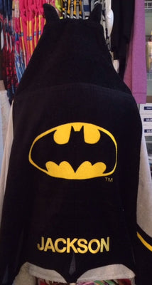 BATMAN Hooded Towel Wrap - Personalized