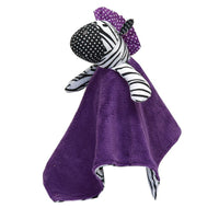 Trend Lab Grape Expectations Zebra Blanket Security Blanket Lovey - Personalized