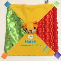 Lamaze Mittens the Kitten Blankie Security Baby Lovey - Personalized