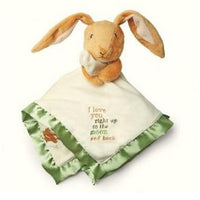 "Bunny Guess How Much I Love You"" Bunny Security Blanket Lovey - Personalized"