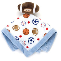 Baby Boy Carter's Football Security Blanket Lovey - Personalized